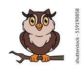 cartoon owl vector illustration | Shutterstock .eps vector #519190858