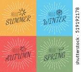 hello four season  vector... | Shutterstock .eps vector #519192178