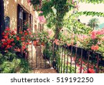 colorful flowers decorating old ...   Shutterstock . vector #519192250