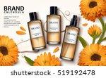 calendula skin toner ads  3d... | Shutterstock .eps vector #519192478