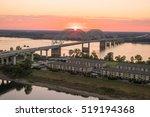 Sunset Over The Mississippi...