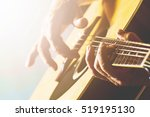 the old man's hand playing... | Shutterstock . vector #519195130
