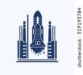 rocket icon design clean vector | Shutterstock .eps vector #519195784