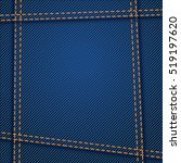 jeans texture seam | Shutterstock .eps vector #519197620