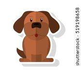 isolated dog pet design   Shutterstock .eps vector #519198658