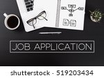 modern office desk with job... | Shutterstock . vector #519203434