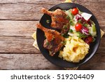 Roasted Duck Leg With Mashed...