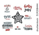 merry christmas collection ... | Shutterstock .eps vector #519208444