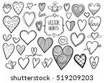 heart doodles | Shutterstock .eps vector #519209203