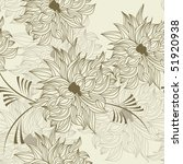 seamless wallpaper with flowers | Shutterstock .eps vector #51920938