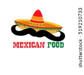 mexican mexico food restaurant... | Shutterstock .eps vector #519210733