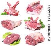 mutton meat | Shutterstock . vector #519212389
