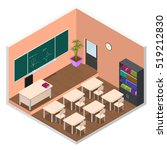 interior school or university... | Shutterstock .eps vector #519212830