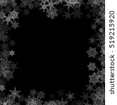 snowfall with random snowflakes ... | Shutterstock . vector #519215920