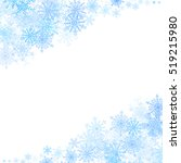 christmas corners frame with... | Shutterstock . vector #519215980