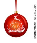 vector merry christmas and... | Shutterstock .eps vector #519217204
