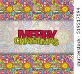 merry christmas card background ... | Shutterstock .eps vector #519217594