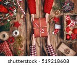 merry christmas and happy... | Shutterstock . vector #519218608