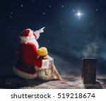 merry christmas and happy... | Shutterstock . vector #519218674