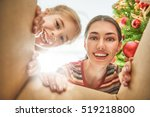 merry christmas and happy... | Shutterstock . vector #519218800