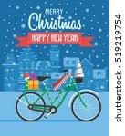 Christmas Bicycle Wishing Card...