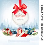 christmas presents with a gift... | Shutterstock .eps vector #519219856