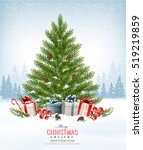 holiday background with a... | Shutterstock .eps vector #519219859