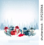 holiday christmas background... | Shutterstock .eps vector #519220066