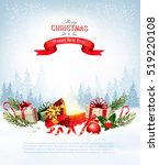 christmas holiday background... | Shutterstock .eps vector #519220108