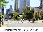 chicago   july 10  pedestrians... | Shutterstock . vector #519220234