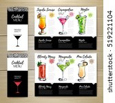 cocktail menu design. corporate ... | Shutterstock .eps vector #519221104