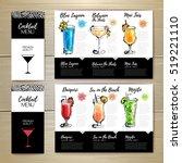 cocktail menu design. corporate ... | Shutterstock .eps vector #519221110