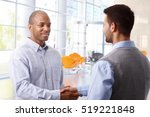 interracial businessmen shaking ... | Shutterstock . vector #519221848