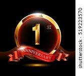 1st golden anniversary logo.... | Shutterstock .eps vector #519223570