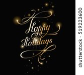 happy holidays lettering for... | Shutterstock .eps vector #519223600