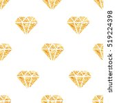 glowing golden foil diamonds... | Shutterstock .eps vector #519224398