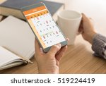 the mark on your smart phone... | Shutterstock . vector #519224419