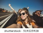 happy group of friends taking... | Shutterstock . vector #519225928