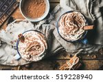 close up of hot chocolate with... | Shutterstock . vector #519228940