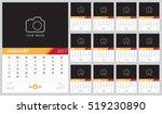 calendar 2017 vector template...   Shutterstock .eps vector #519230890