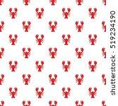 lobster pattern. cartoon...