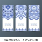 set of flyers  brochures ... | Shutterstock .eps vector #519234328