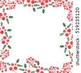 watercolor christmas card with... | Shutterstock . vector #519235120