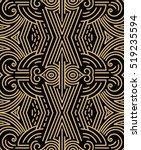 vector geometric pattern in... | Shutterstock .eps vector #519235594