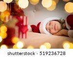 Sleeping Child In Bedroom. Kid...