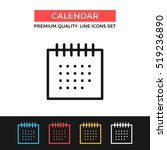 vector calendar icon. schedule  ...
