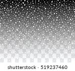 snowflakes on a transparent... | Shutterstock .eps vector #519237460