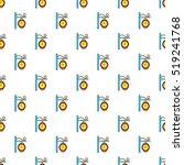 street clock pattern. cartoon... | Shutterstock .eps vector #519241768