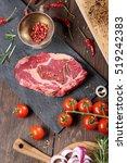 the fresh beef steak  spices... | Shutterstock . vector #519242383