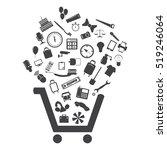 cart icon vector flat design... | Shutterstock .eps vector #519246064